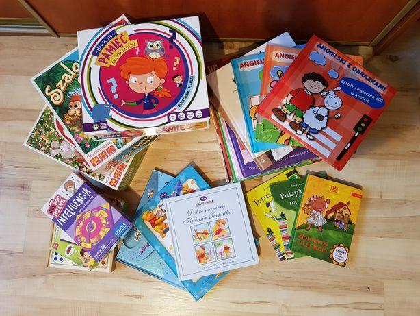 Zestaw gier i książeczek dla dzieci