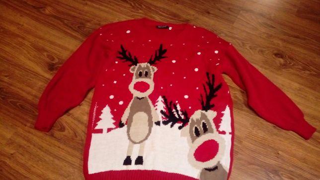 Sweter świateczny zimowy