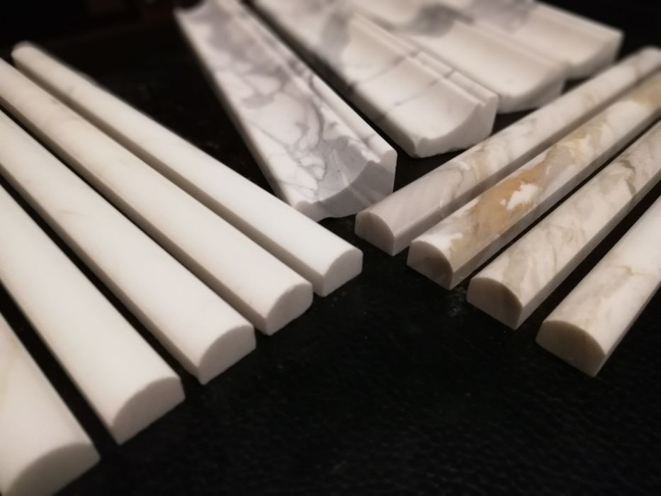 Sztukateria Marmurowa pół wałek cygaro Calacatta Poskwitów - image 1