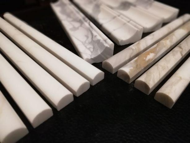 Sztukateria Marmurowa pół wałek cygaro Calacatta