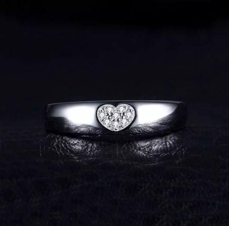 Кольцо серебрянное 925 проба с сердечком женское серебро