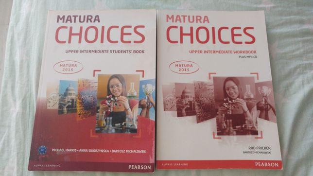 Students' book / workbook Matura Choices upper intermediate Pearson
