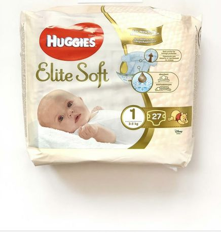 Памперси Huggies Elite Soft, розмір 1,