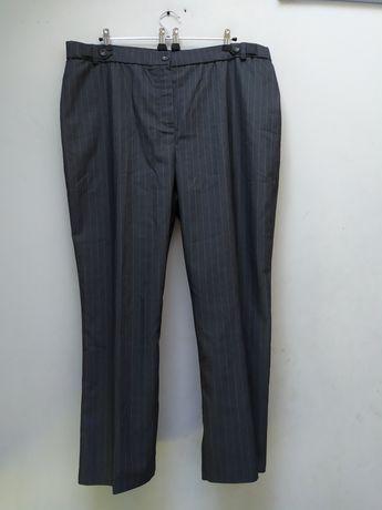 MAGI 50 52 eleganckie spodnie prążkowane nowe