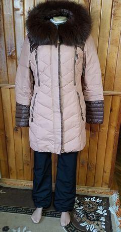 Пуховик пальто зимнее XL