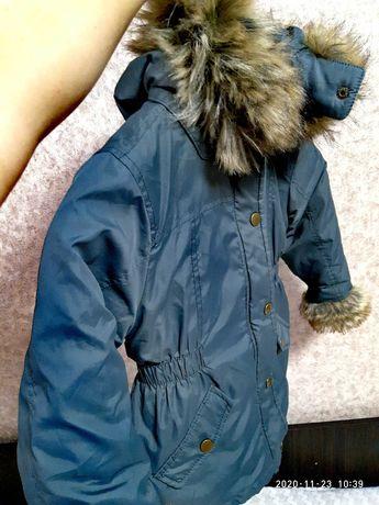Тепла курточка комбинезон на дівчинку 4-5 років