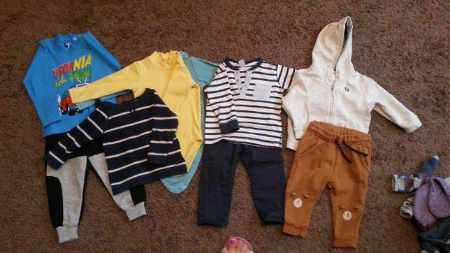 пакет комплект вещи одежда 74-80 размер H&M штаны худи боди кофта
