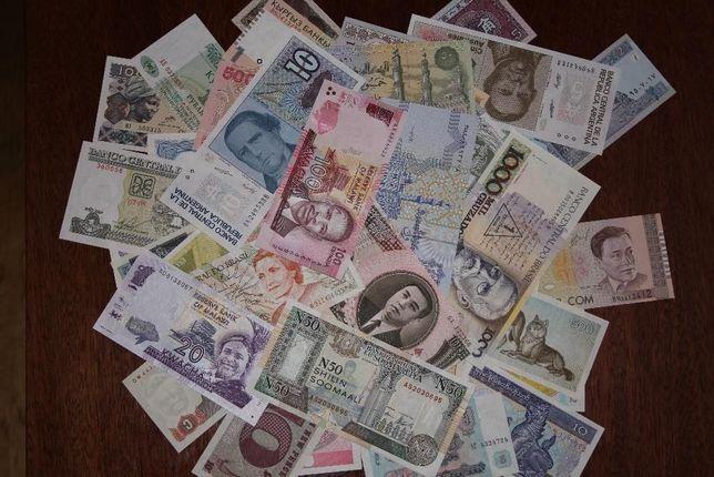 Набор банкнот мира 50 штук UNC. Без повторов