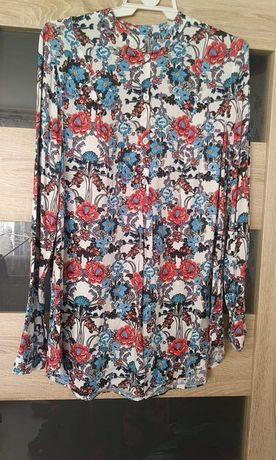 Bluzka koszula L nowa kwiaty