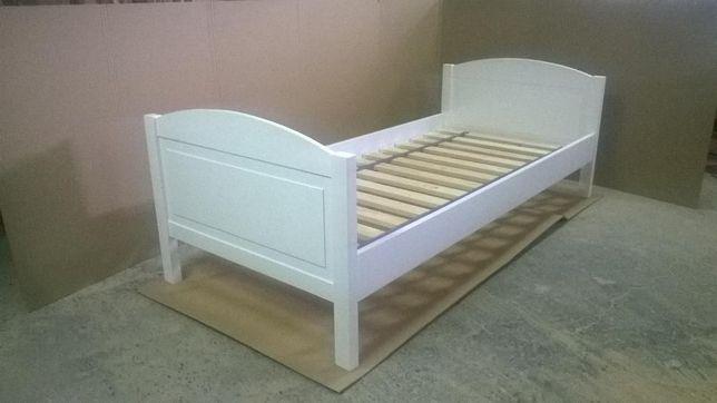 łóżko drewniane biale 90x200