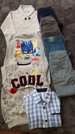 Ubrania dla chlopca rozmiar 110