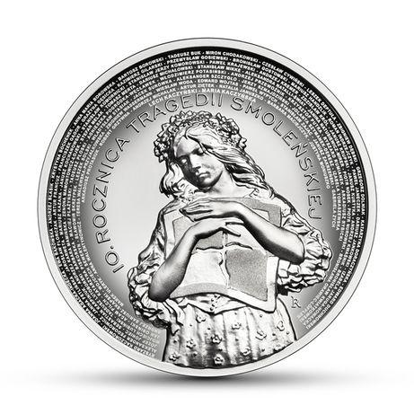 Moneta 10 zł 10 rocznica tragedii smoleńskiej