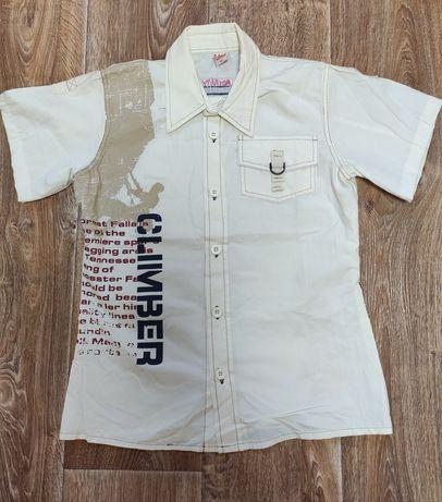Рубашка новая катоновая фирменная(Греция) на мальчика 11-13 лет