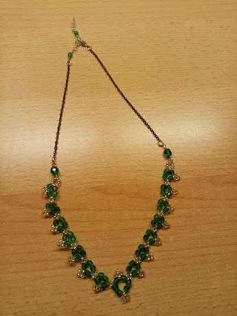 Naszyjnik zielony nowy