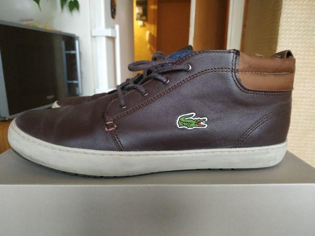 Мужские кожанные кеды ботинки Lacoste. Размер 42 EU, 9 US, 8UK
