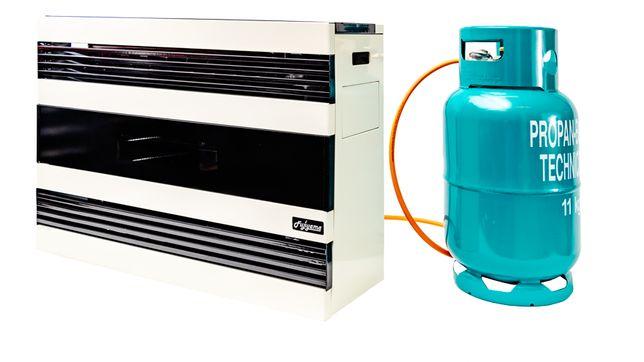 Ogrzewacz gazowy na butle 7,5 kW wentylator, nagrzewnica,
