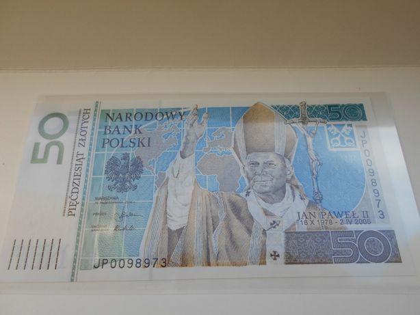 50 zł Jan paweł II banknot