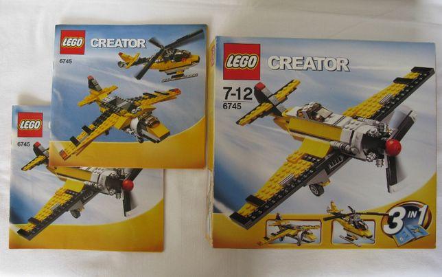 LEGO Creator 3zestawy 6745 samolot 6742 mini offroader 4838 mini truck