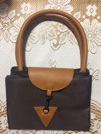 Nowa torebka,torba brązowa, zapinana, składana z firmy Avon