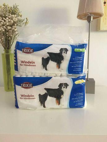 """Fraldas descartáveis para cão """"Trixie"""" não usadas, uma fralda em falta"""