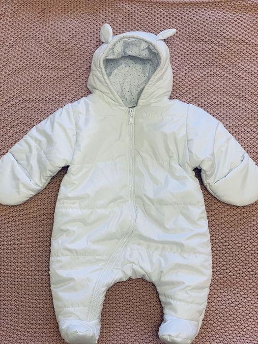 Продам красивенный Деми белоснежный комбинезон Olton baby Николаев Жовтневый - изображение 1