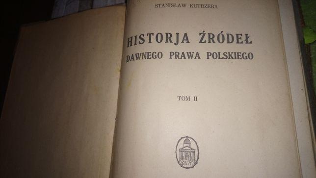 Stara Księga Historja Źródeł Dawnego Prawa Polskiego Tom 2