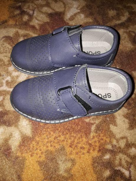 Детские туфли кожзам