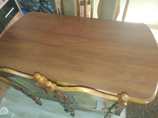 Stół duży rozciągany + 6 krzeseł