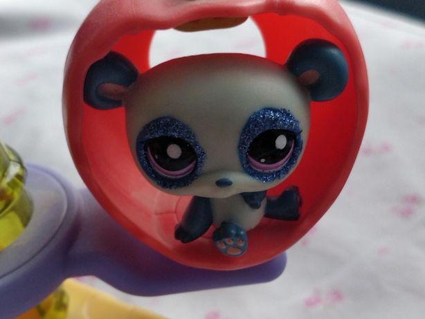 Littlest Pet Shop - LPS - Hasbro - Niebieska panda z brokatem