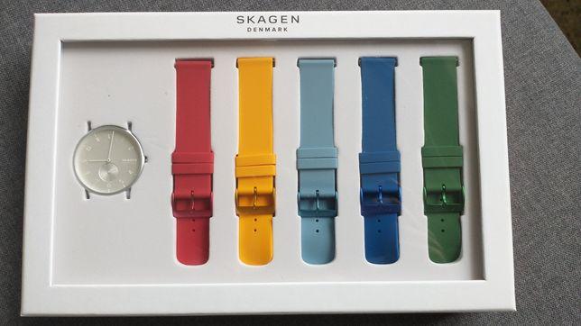 Zegarek Skagen Aaren super zestaw z 4 paskami