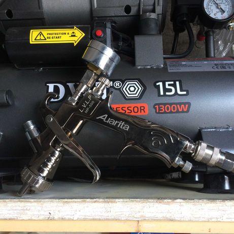 Краскопульт краскораспылитель покрасочный пистолет auarita mp-500 M4