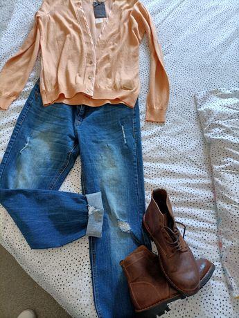 Calças Tiffosi e casaco supertrash com etiqueta (40/L)