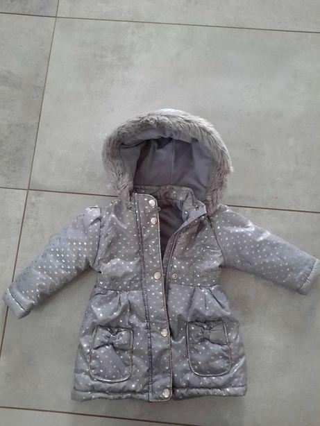 Śliczna kurtka zimowa dla dziewczynki roz.80