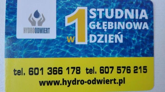 Wiercenie studni głębinowych Konin