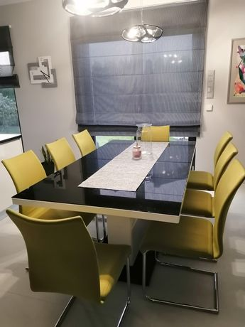Krzesła 8 sztuk kolor limonka