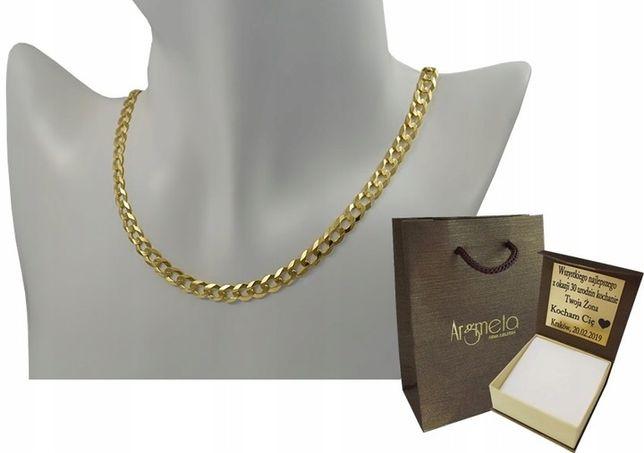 Łańcuszek Złoty Pancerka Złoto pr. 585 Nowy z Metką - 30 %