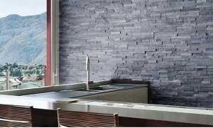Marmur Pure Grey 40x10x0,8-1,2 cm Kamień Dekoracyjny-Elewacyjny