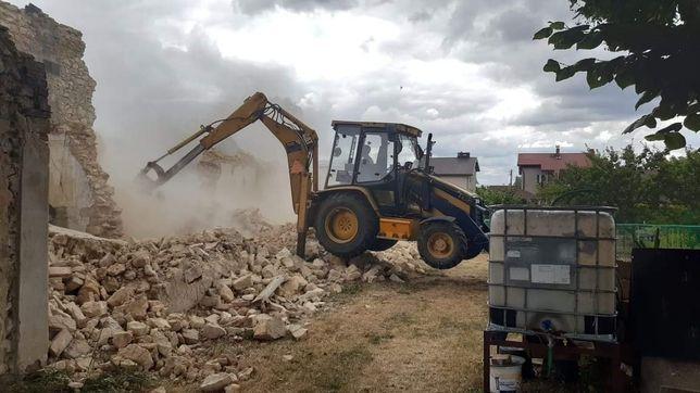 Rozbiórki i wyburzenia budynków,usługi koparko ładowarka,mini koparka
