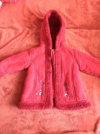 Дубленка, куртка на 9-12 месяцев