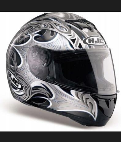 Kask motocyklowy HJC damski S 56 szary srebrny