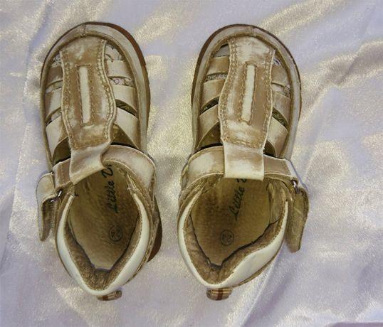 Детские кожаные сандали унисекс, размер 24