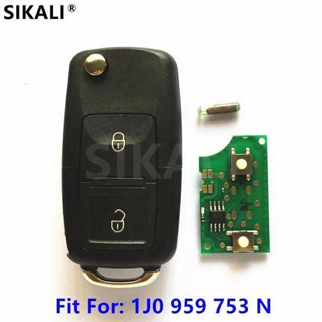 Викидний/Дистанційний ключ 1J0959753N VW,  Skoda, Seat, IMMO