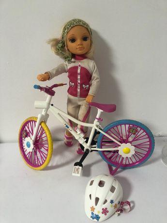 Nancy com bicicleta