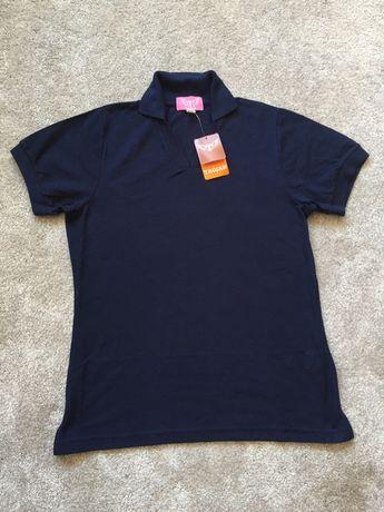 NOWA koszulka polo damska granatowa TROJAN rozm 38 12 M uniform praca