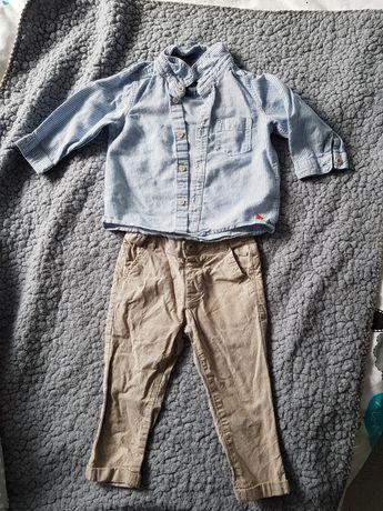 Koszula spodnie zestaw dla chłopca 80cm