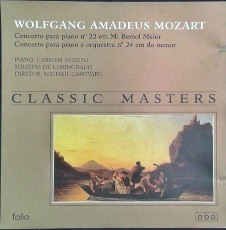 Mozart Concertos 22 e 24. Pazzini + Gantvarg. FOLI . Envio CTT