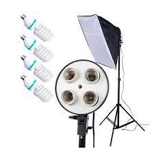 Набор постоянного света на 4 лампы+штатив+софтбокс(50x70см)+ лампы 4шт