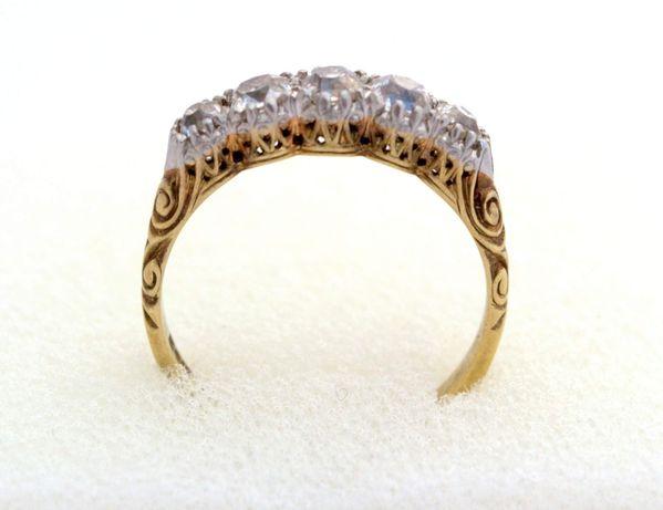 Piękny,kolekcjonerski pierścionek z diamentami