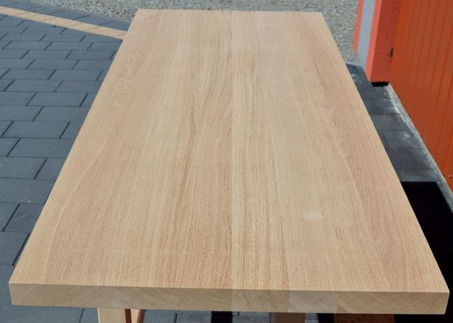 Blat drewniany DĄB: 140x80x4 cm-Klejonka drewniana dąb-Blaty Dąb