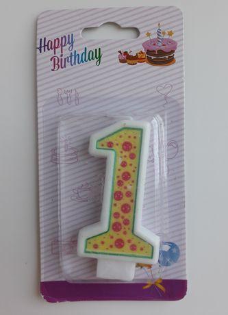 Свічка-одиничка на тортик
